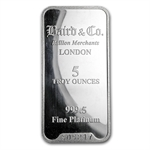5 oz Baird & Co. Platinum Bar .999+ Fine