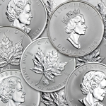 1 oz Silver Canadian Maple Leaf - Random Privy Mark Coins