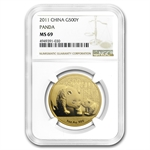 2011 1 oz Gold Chinese Panda MS-69 NGC