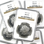 1878-1904 Morgan Dollars - MS-62 PL Proof Like NGC