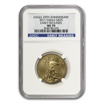 2011 4-Coin Gold American Eagle Set MS-70 NGC (ER)