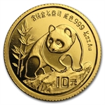 1990 (1/10 oz) Gold Chinese Pandas - Small Date (Sealed)