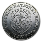 1 oz Silver Rnd .999 Fine - Republic National Bank of New York