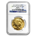 1 oz Gold Buffalo MS-70 PCGS/NGC (Random Year)