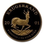 2001 4-Coin Proof Gold Krugerrand Prestige Set (w/box & CoA)
