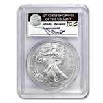 2011-S Silver Eagle - MS-69 PCGS - 25th Anniv - FS John Mercanti