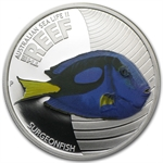 2012 1/2 oz Proof Silver Surgeonfish - Sea Life II Series