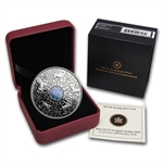 2010 3/4 oz Proof Silver Canadian Maple Leaf of Strength Hologram