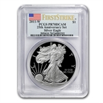 2011-W Proof Silver Eagle 25th Anniv PR-70 PCGS (FS) Blue Label