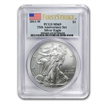 2011-W Burnished Silver Eagle 25th Ann MS-69 PCGS (FS) Blue Label