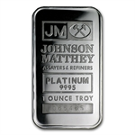 1 oz Johnson Matthey Platinum Bar (No Assay) .9995 Fine