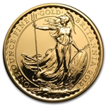 2012 1 oz Gold Britannia - 25th Anniversary