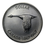 1967 Canadian Silver Dollar Flying Goose (Unc &/or Proof)