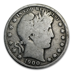 $10 Pre-1900 Barber Halves - 90% Silver 20-Coin Roll (Avg Circ)