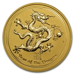 2012 2 oz Gold Lunar Year of the Dragon (Series II) Abrasions