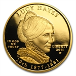 2011-W 1/2 oz Proof Gold Lucy Hayes (w/Box & COA)