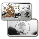 2012 1 oz Proof Silver Rectangle Year of the Dragon 4 Coin Set