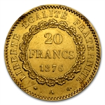 Gold 20 Franc Lucky Angel .1867 AGW (Ex-jewelry)