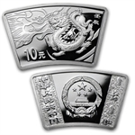 2012 China Year of the Dragon Silver Fan and Colorized Proof Set