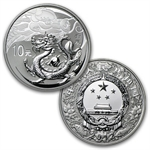 2012 China Year of the Dragon Silver Proof and Colorized Set