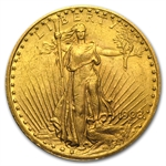 1908 $20 St. Gaudens Gold Double Eagle - (w/Motto) AU
