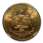 Mexico 1930 50 Pesos Gold Coin - MS-64 NGC