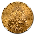 Mexico 1943 50 Pesos Gold NGC MS-64