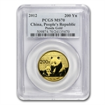 2012 (1/2 oz) Gold Chinese Panda - MS-70 PCGS