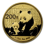 2012 1/2 oz Gold Chinese Panda (Not Sealed)