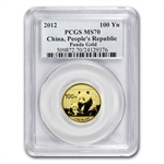2012 (1/4 oz) Gold Chinese Panda - MS-70 PCGS