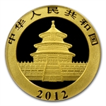 2012 (1/10 oz) Gold Chinese Panda - MS-70 PCGS