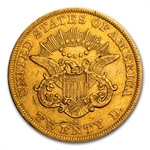 $20 Liberty Gold Double Eagle - Type 1 1850-1866 - Extra Fine