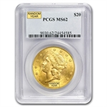 $20 Gold Liberty Double Eagle - (1800s S-Mint) - MS-62 PCGS