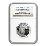 2001-W 1/2 oz Proof Platinum American Eagle PF-70 NGC