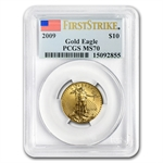 1/4 oz Gold American Eagle MS-70 PCGS/NGC (Random Year)