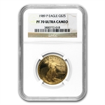 1989-P 1/2 oz Proof Gold American Eagle PF-70 NGC