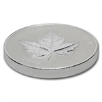 2010 1 oz Piedfort $5 Silver Canadian Maple Leaf (W/ Box & COA)