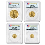 2012 4-Coin Gold American Eagle Set MS-70 PCGS (FS)