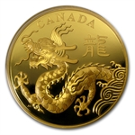 2012 Gold Kilo Canadian $2,500 Year of the Dragon - Classic Proof