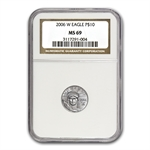 2006-W 1/10 oz Burnished Platinum American Eagle MS-69 NGC