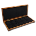 Around the World (Silver) 10 Coin Wood Presentation Box