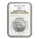 2008-W 1 oz Burnished Platinum American Eagle MS-70 NGC
