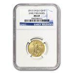 2012 1/2 oz Gold American Eagle MS-69 NGC (Early Releases)
