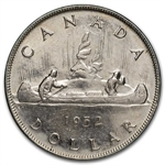 Canada 1952 1 Dollar Almost Uncirculated
