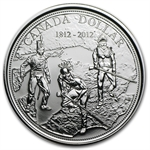 2012 Silver Canadian $1 War of 1812 BU (W/Box & COA)