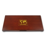 Around the World (Gold) 10 coin Wood Presentation Box