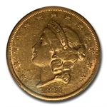 1861-S $20 Gold Liberty Double Eagle - XF-45 PCGS