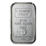 1 oz A-Mark U.S.V.I. Ingot Co. Silver Bar .999 Fine