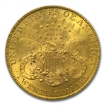 1890 $20 Gold Liberty Double Eagle - MS-62 PCGS