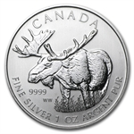 2012 1 oz Silver Canadian Wildlife Series - Moose